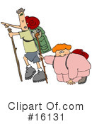 Royalty-Free (RF) Hiking Clipart Illustration #16131