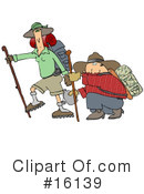 Royalty-Free (RF) Hiking Clipart Illustration #16139