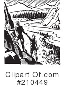 Royalty-Free (RF) Hiking Clipart Illustration #210449