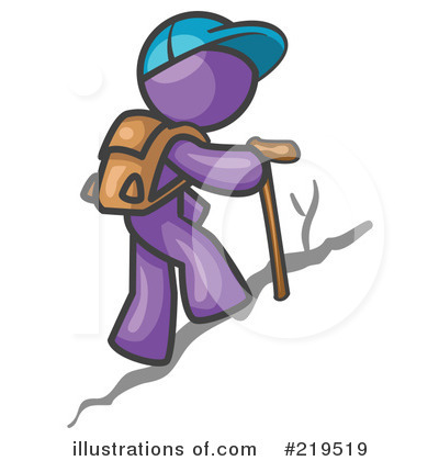 Hiking Clipart #219519 by Leo Blanchette