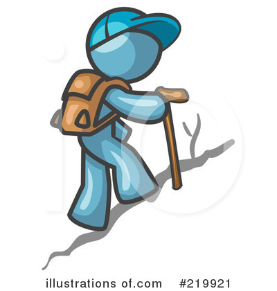 Royalty-Free (RF) Hiking Clipart Illustration by Leo Blanchette - Stock Sample #219921