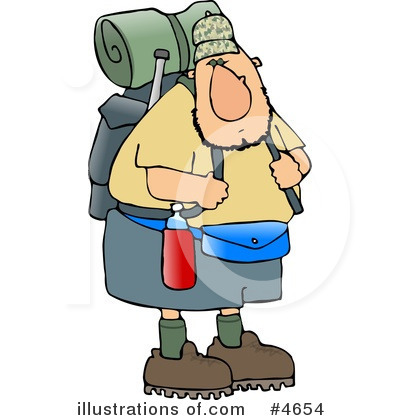 Royalty-Free (RF) Hiking Clipart Illustration by Dennis Cox - Stock Sample #4654