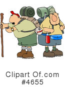 Royalty-Free (RF) Hiking Clipart Illustration #4655