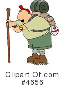 Royalty-Free (RF) Hiking Clipart Illustration #4656
