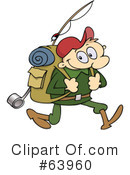 Royalty-Free (RF) hiking Clipart Illustration #63960