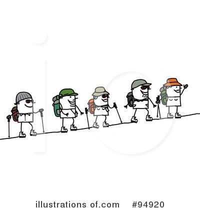 Royalty-Free (RF) Hiking Clipart Illustration by NL shop - Stock Sample #94920