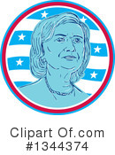 Royalty-Free (RF) Hillary Clinton Clipart Illustration #1344374