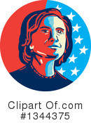 Royalty-Free (RF) Hillary Clinton Clipart Illustration #1344375