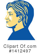 Royalty-Free (RF) Hillary Clinton Clipart Illustration #1412497