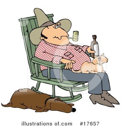 Royalty-Free (RF) Hillbilly Clipart Illustration by djart - Stock Sample #17657