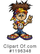 Hippie Clipart #1196348 by Chromaco