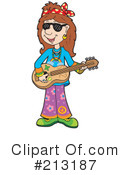 Royalty-Free (RF) Hippie Clipart Illustration #213187