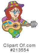 Royalty-Free (RF) Hippie Clipart Illustration #213554