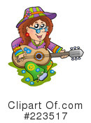 Royalty-Free (RF) Hippie Clipart Illustration #223517