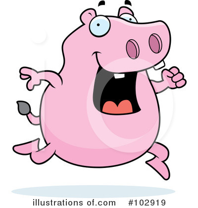 Hippo Clipart #102919 by Cory Thoman