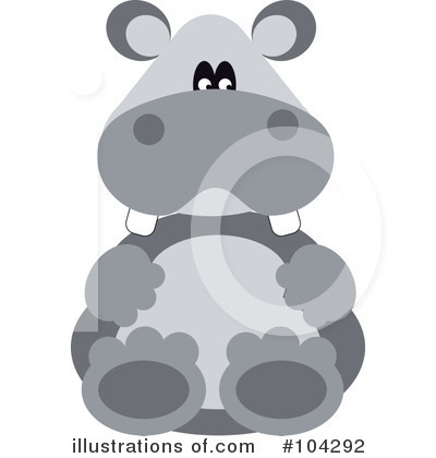 Royalty-Free (RF) Hippo Clipart Illustration by kaycee - Stock Sample #104292