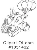 Royalty-Free (RF) Hippo Clipart Illustration #1051432