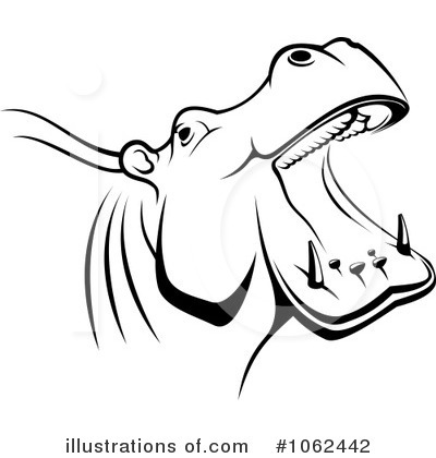 Hippo Clipart #1062442 by Vector Tradition SM