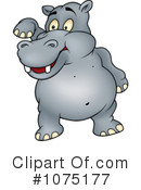 Royalty-Free (RF) Hippo Clipart Illustration #1075177