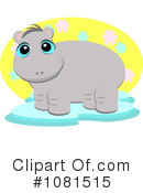 Royalty-Free (RF) Hippo Clipart Illustration #1081515
