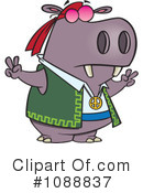 Royalty-Free (RF) Hippo Clipart Illustration #1088837