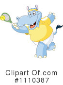 Royalty-Free (RF) Hippo Clipart Illustration #1110387