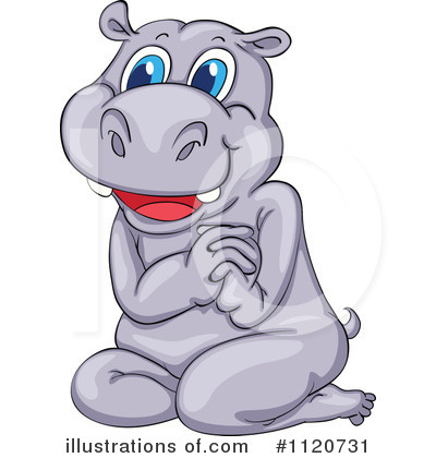 Hippo Clipart #1120731 by Graphics RF