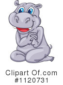 Royalty-Free (RF) Hippo Clipart Illustration #1120731