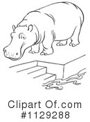Royalty-Free (RF) hippo Clipart Illustration #1129288