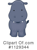 Royalty-Free (RF) hippo Clipart Illustration #1129344