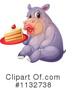Royalty-Free (RF) Hippo Clipart Illustration #1132738