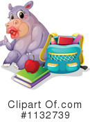 Royalty-Free (RF) Hippo Clipart Illustration #1132739