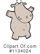 Royalty-Free (RF) hippo Clipart Illustration #1134024