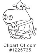 Royalty-Free (RF) Hippo Clipart Illustration #1226735