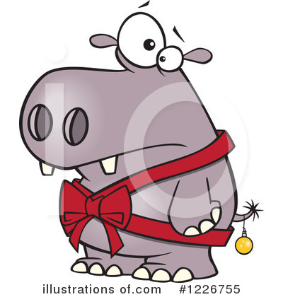 Hippo Clipart #1226755 by toonaday