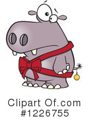 Royalty-Free (RF) Hippo Clipart Illustration #1226755