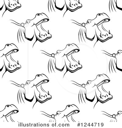 Hippo Clipart #1244719 by Vector Tradition SM