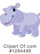 Royalty-Free (RF) Hippo Clipart Illustration #1264495