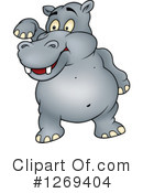 Royalty-Free (RF) Hippo Clipart Illustration #1269404