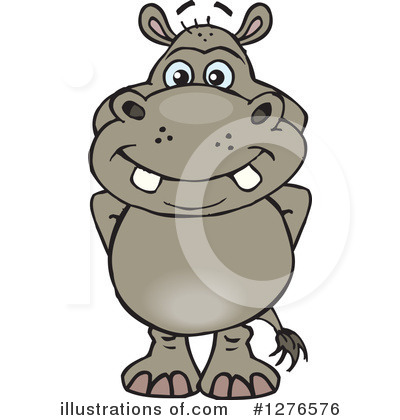 Royalty-Free (RF) Hippo Clipart Illustration by Dennis Holmes Designs - Stock Sample #1276576