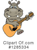 Hippo Clipart #1285334 by Dennis Holmes Designs