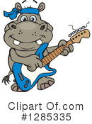 Hippo Clipart #1285335 by Dennis Holmes Designs