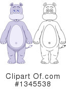 Hippo Clipart #1345538 by Liron Peer