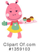 Royalty-Free (RF) Hippo Clipart Illustration #1359103