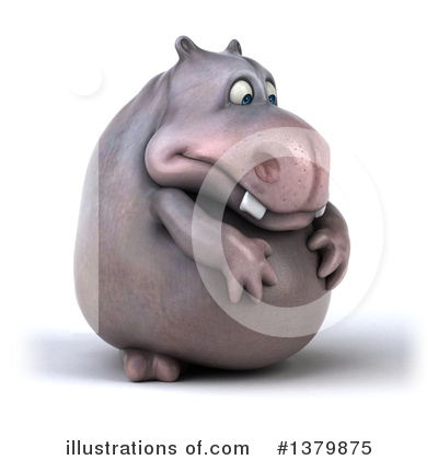 Royalty-Free (RF) Hippo Clipart Illustration by Julos - Stock Sample #1379875
