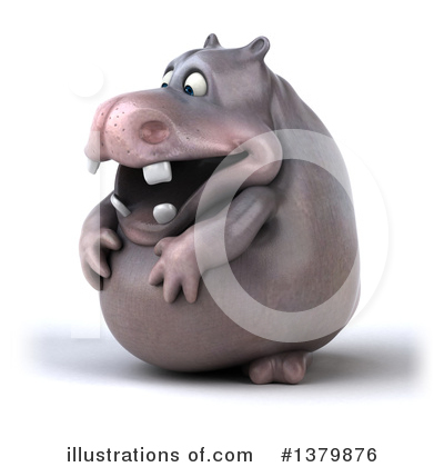 Royalty-Free (RF) Hippo Clipart Illustration by Julos - Stock Sample #1379876