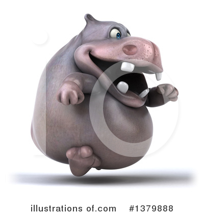 Royalty-Free (RF) Hippo Clipart Illustration by Julos - Stock Sample #1379888