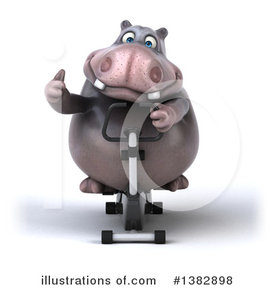 Royalty-Free (RF) Hippo Clipart Illustration by Julos - Stock Sample #1382898