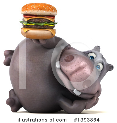 Royalty-Free (RF) Hippo Clipart Illustration by Julos - Stock Sample #1393864
