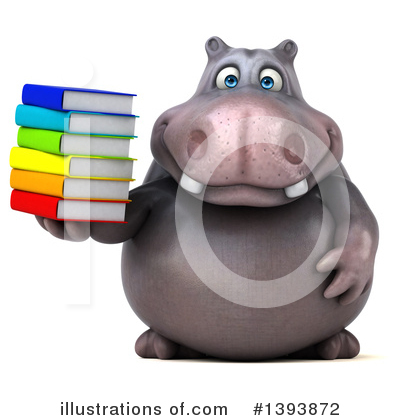 Royalty-Free (RF) Hippo Clipart Illustration by Julos - Stock Sample #1393872